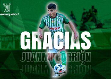 Juanmi Carrión no seguirá ligado al Atlético Sanluqueño la próxima temporada.